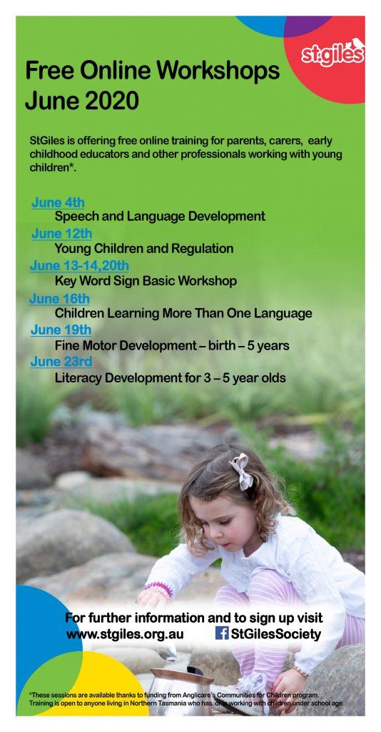Online Workshop July List
